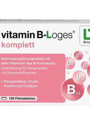Vitamin B loges komplett  tabl (120 stk.)