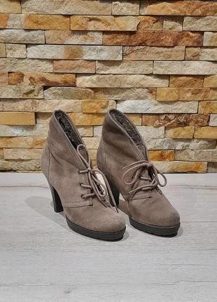 Ботинки tamaris натуральный замш