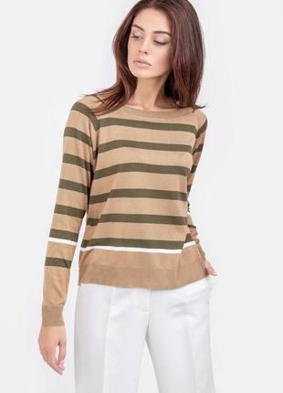 Джемпер свитер полосатый в полоску хлопок