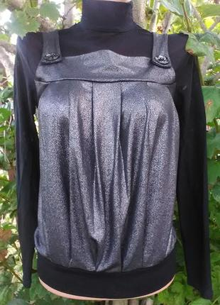 Нарядная блузка - водолазка сетка - комби
