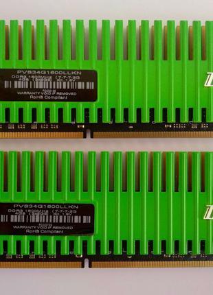 Оперативна пам'ять Patriot DDR3-1600 4096MB PC3-12800 Kit of 2x2