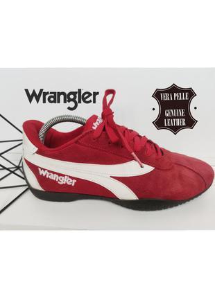 Wrangler красные кроссовки из натуральной кожи/замши