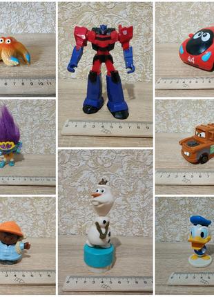 Разные фигурки машинки герои мультфильмов