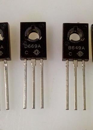 Біполярні транзистори 2SB649 2SD669.