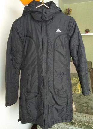 Пуховик куртка пальто adidas черный
