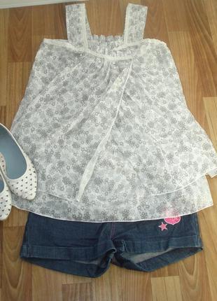 Белая блуза футболка майка туника платье размер s можно для бе...