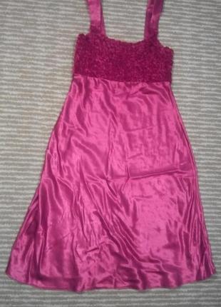 Соблазнительное красное атласное платье сарафан ночная