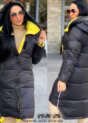 Стильное и яркое женское пальто зима