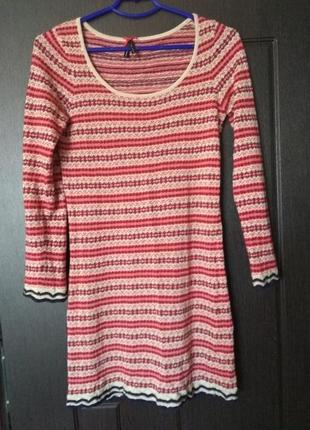 Трикотажное тонкое платье