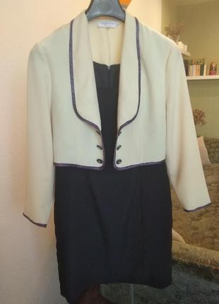 Костюм женский платье пиджак накидка