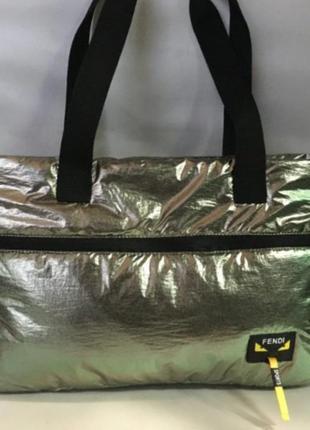 Женская сумка пуховик дутая стеганая