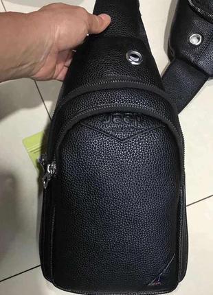 Кожаная сумка слинг мужская сумка через плечо, барсетка .