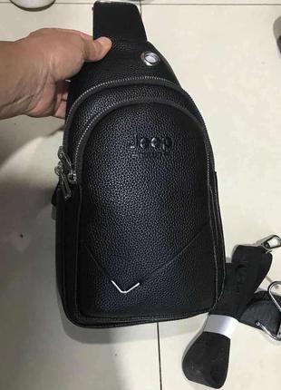 Кожаная сумка слинг мужская сумка через плечо, барсетка