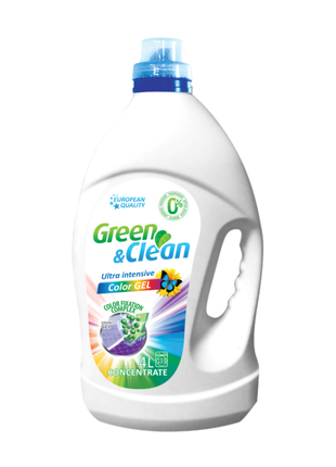 Гель для прання Green&Clean Ultra Intensive кольорових речей, 4 л