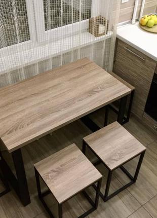 СКИДКА! Обеденный комплект стол+табуреты или стулья в стиле ЛОФТ