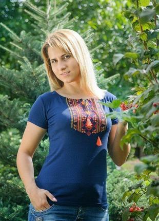 Женская футболка вышиванка, вишиванка жіноча