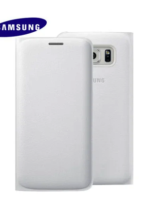 Чехол Samsung Galaxy S6 Edge Wallet Flip Cover White (EF-WG925PWE