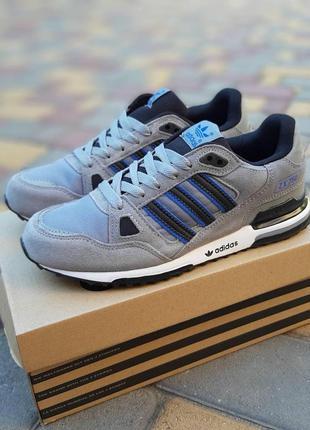 Отличные мужские кроссовки adidas zx 750 серые
