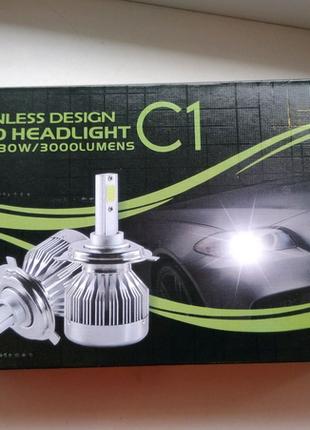 fanless design led headlight c1, лед лампы, для автомобиля