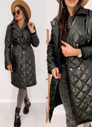 Стеганное пальто на синтепоне