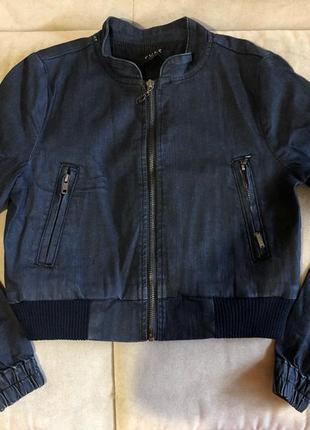 Джинсовка джинсовая куртка укороченная