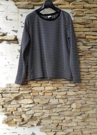 Шикарный блузон пуловер в горох большого размера