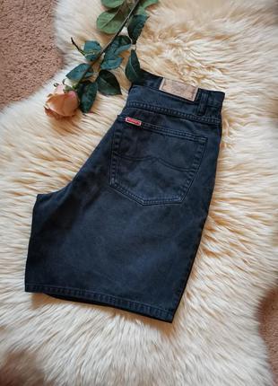 Винтажные джинсовые шорты бермуды высокая талия женские шорты