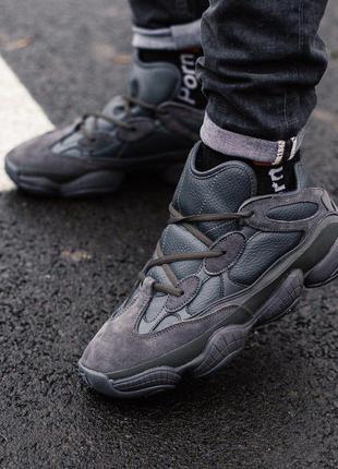 Кросівки adidas yeezy boost 500 utility black  кроссовки зимни...
