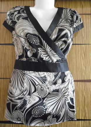 Блуза из иск.шелка new look. размер 16 – идет на 50.