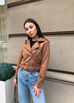 Замшевая куртка-косуха 🔥 размер: м(42-44) ткань: замш