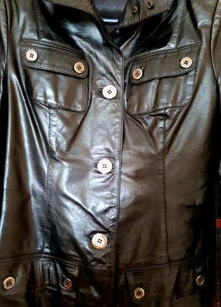 Кожаный итальянский пиджак (куртка) Vera Pelle