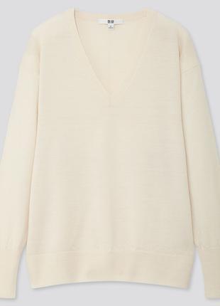Тонкий свитер Uniqlo, 100 EXTRA FINE MERINO WOOL