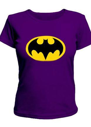 Фиолетовая женская футболка Batman|Бетмен.