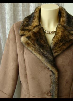 Дубленка женская искусственная шикарная теплая бренд dennis ba...