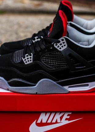 Кроссовки Nike Air Jordan Retro 4 Black Red