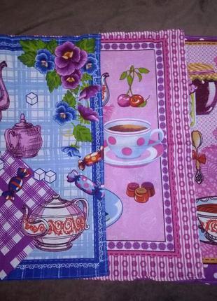 Набор кухонных вафельных полотенец