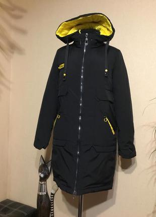🔥стильная🔥 куртка парка холодная осень евро зима