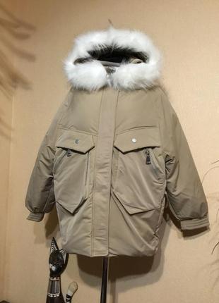 🔥крутецкая🔥 оверсайз тёплая куртка пуховик аляска холодная осе...