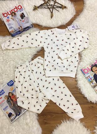 Пижама для девочки тонкая / тёплая трикотаж  байка мальчик