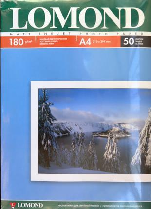 Фотобумага / Фотопапір Lomond Matt Photo Paper (А4, 180г/м2, 50л)