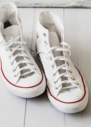 Стильные белые кеды converse. 41 размер. стелька 26 см.