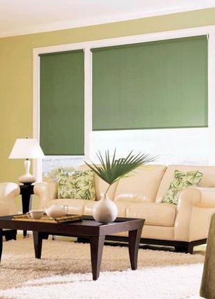 Однотонные рулонные шторы, готовые тканевые ролеты на окна