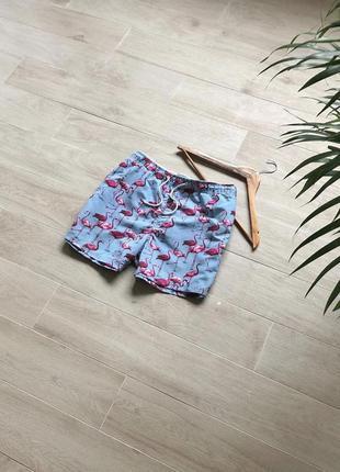 Пляжные шорты с фламинго