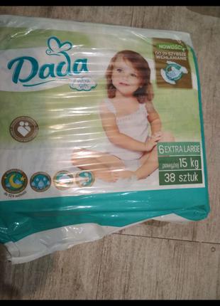 Подгузники Dada soft 6 38 штук