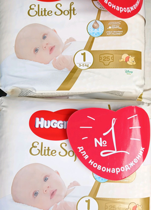Huggies elite soft 1 25 шт