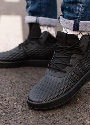 Кроссовки мужские adidas tubular invader black metric
