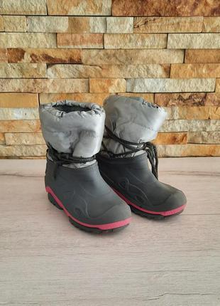 Детские резиновые ботинки на утеплителе размер 31/32