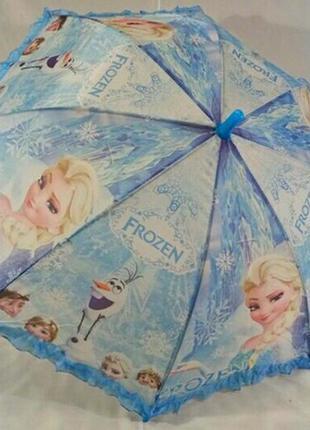 Зонт для девочки frozen эльза ледяное сердце 5 - 9 лет