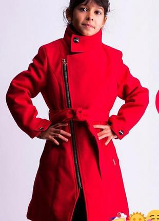 Кашемировое пальто для девочки подростка