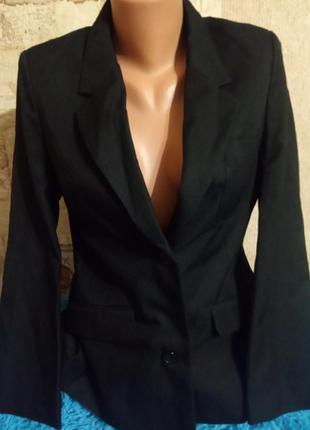 Marks@ spencer классический черный пиджак ( на 13-14 лет рост1...
